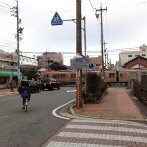 建築地から西側のJR四日市駅方面