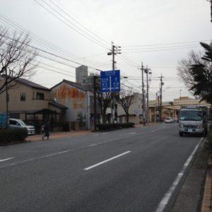 建築地から東側の国道23号線方面