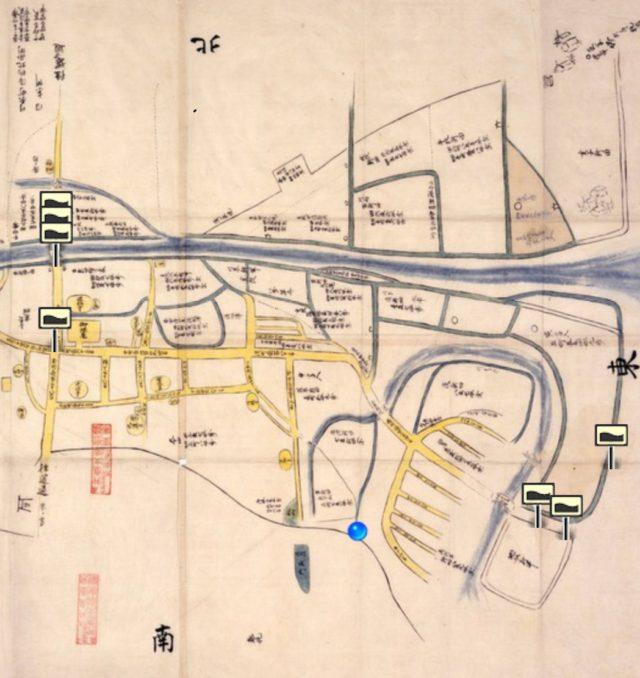 四日市町絵図