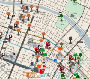 四日市旧港まち歩きマップ
