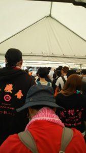 熊本市ボランティア待ちの列